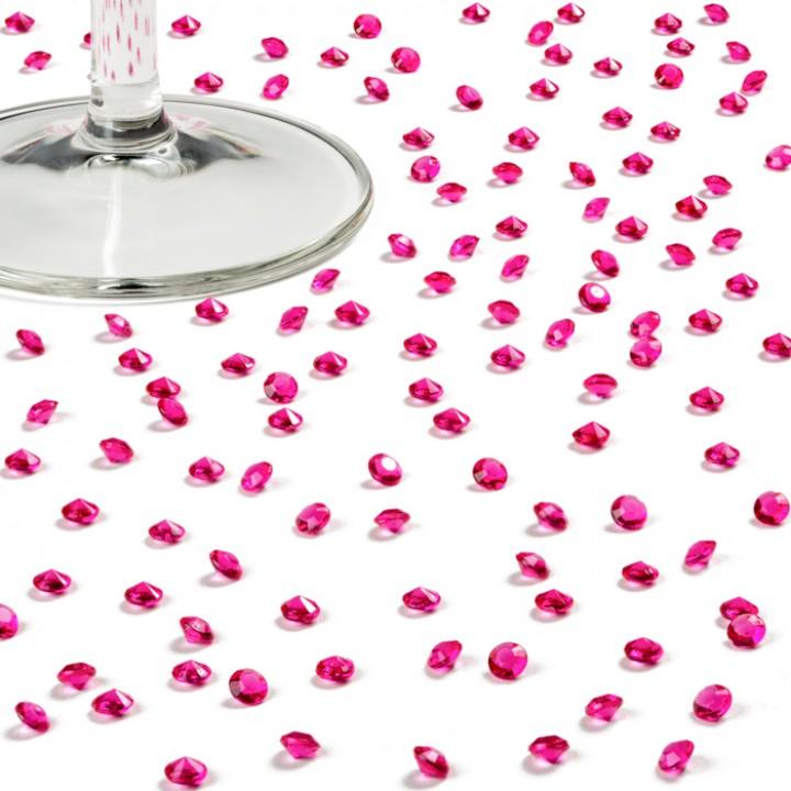 Boîte de 1800 mini-diamants fuschia 4,5 mm