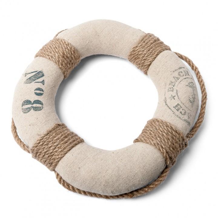Bouée de marin lin et corde D 25 cm