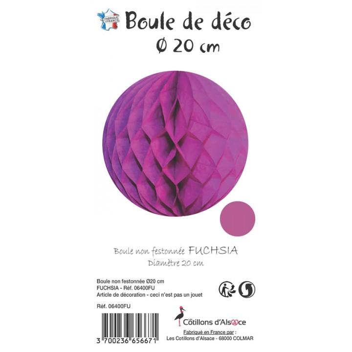 Boule alvéolée ballon fuschia 20 cm