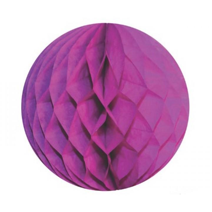 Boule alvéolée ballon fuschia 30 cm