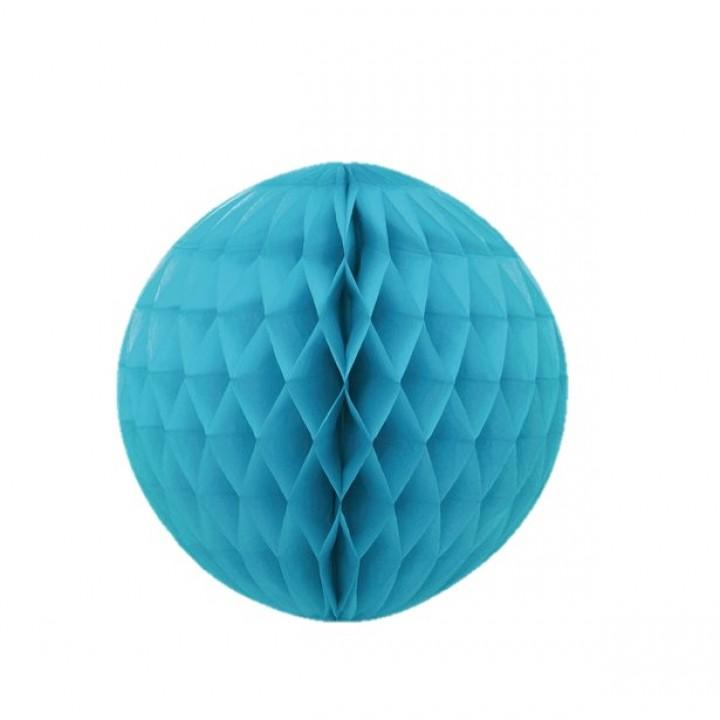 Boule alvéolée ballon turquoise 30 cm