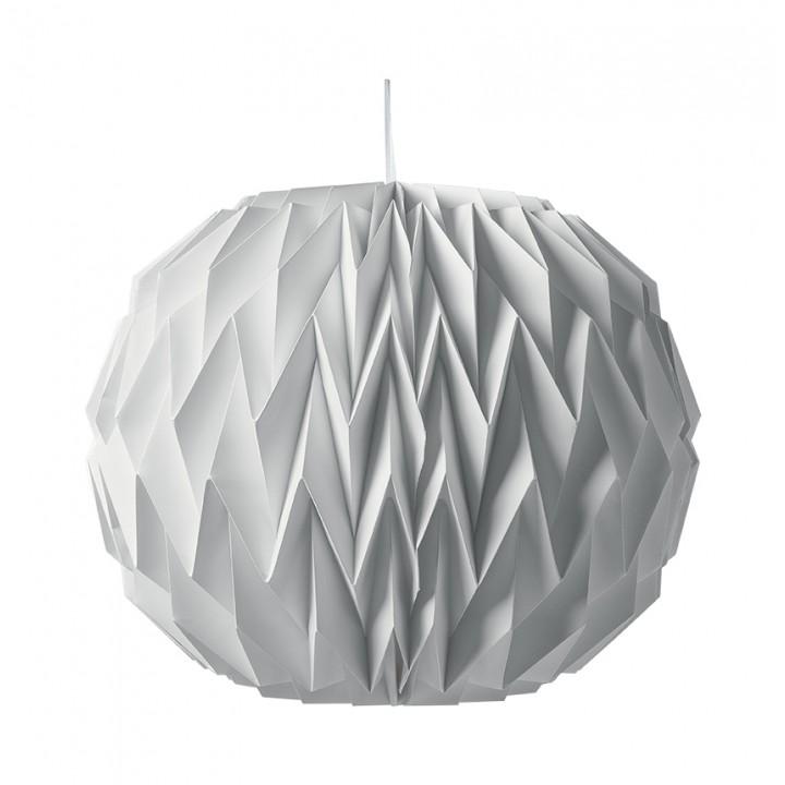 Boule origami blanche 28 x 37 cm