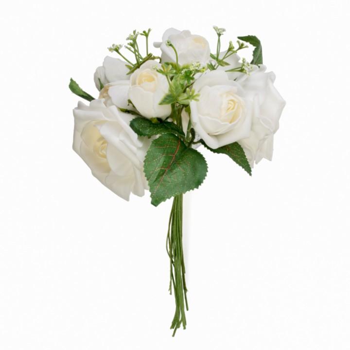 bouquet de fleurs blanches 25 x 12 cm. Black Bedroom Furniture Sets. Home Design Ideas