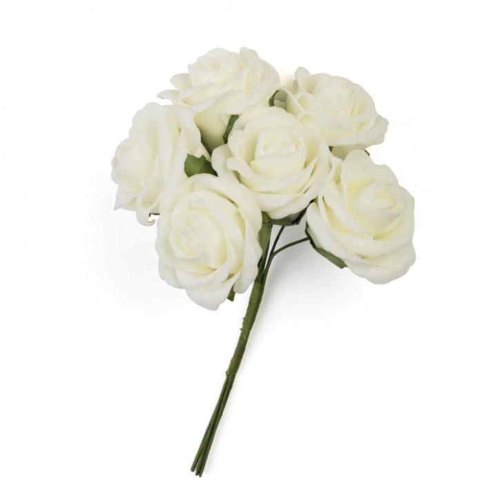 Bouquet De Roses Blanches 32 Cm