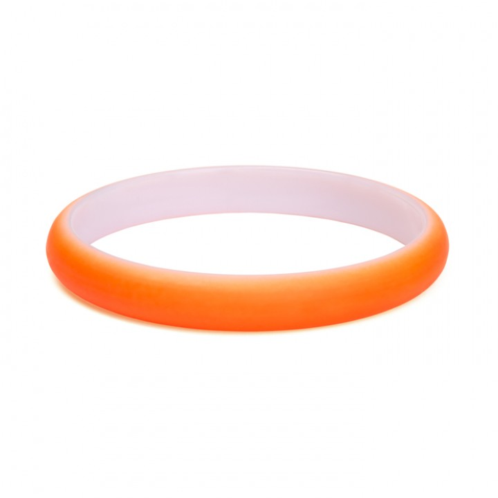 Bracelet fluo orange fin Largeur 1 cm D 7 cm