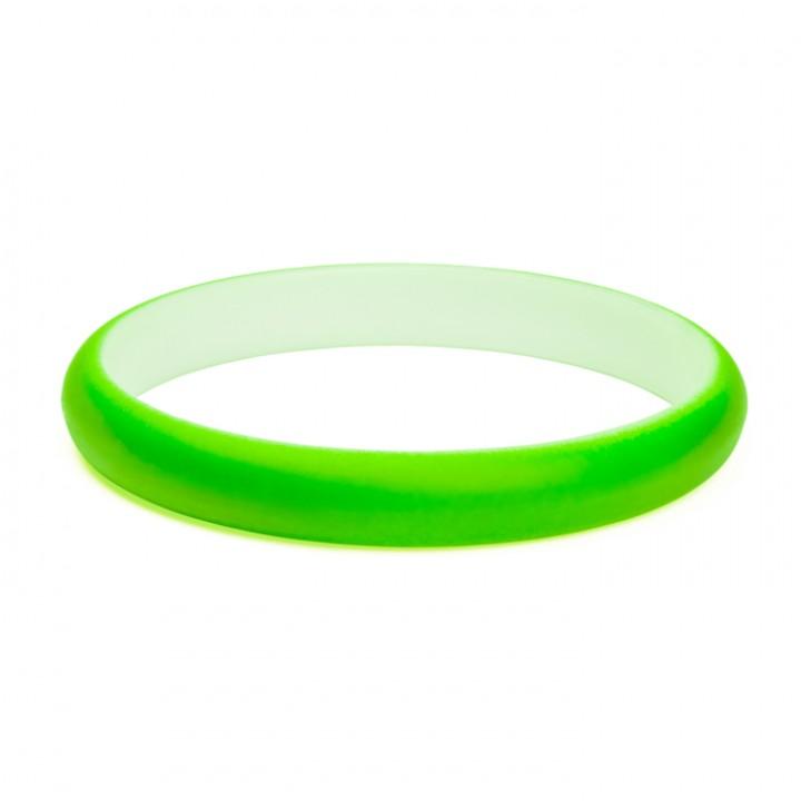 Bracelet fluo vert fin Largeur 1 cm D 7 cm
