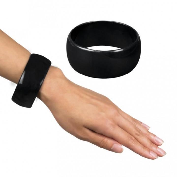 Bracelet fluo vert Largeur 3 cm D 7 cm