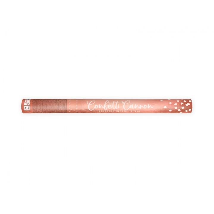 Canon à confettis coeur rose gold 60 cm