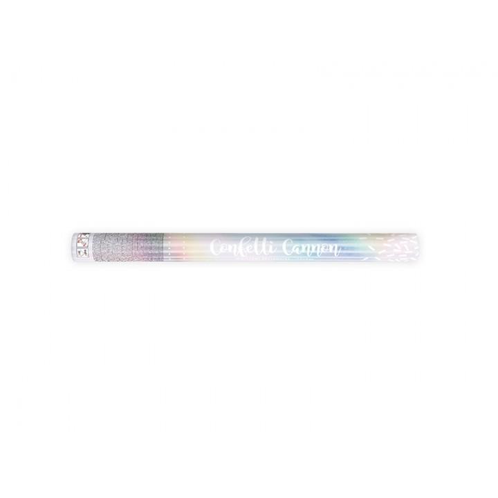 Canon à confettis iridescents 60 cm