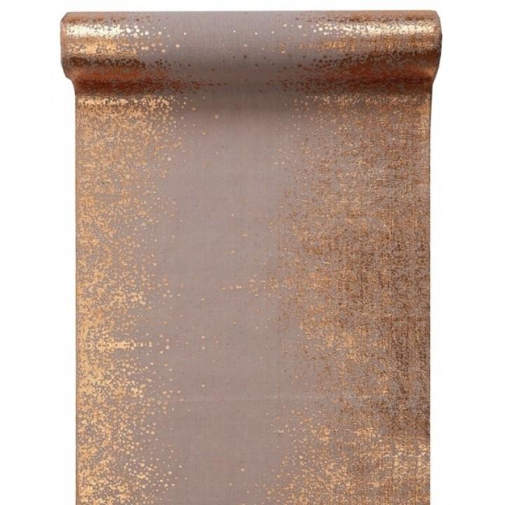 Chemin de table éclats métallisés cuivre