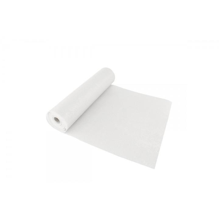 Chemin de table Noël glossy blanc 28 cm x 5 m