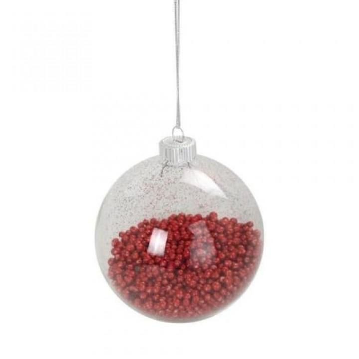 boule en verre transparent mini boule de neige paillet e. Black Bedroom Furniture Sets. Home Design Ideas