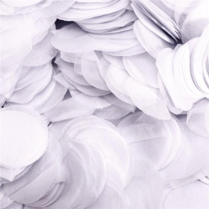 Confettis ronds blancs en papier