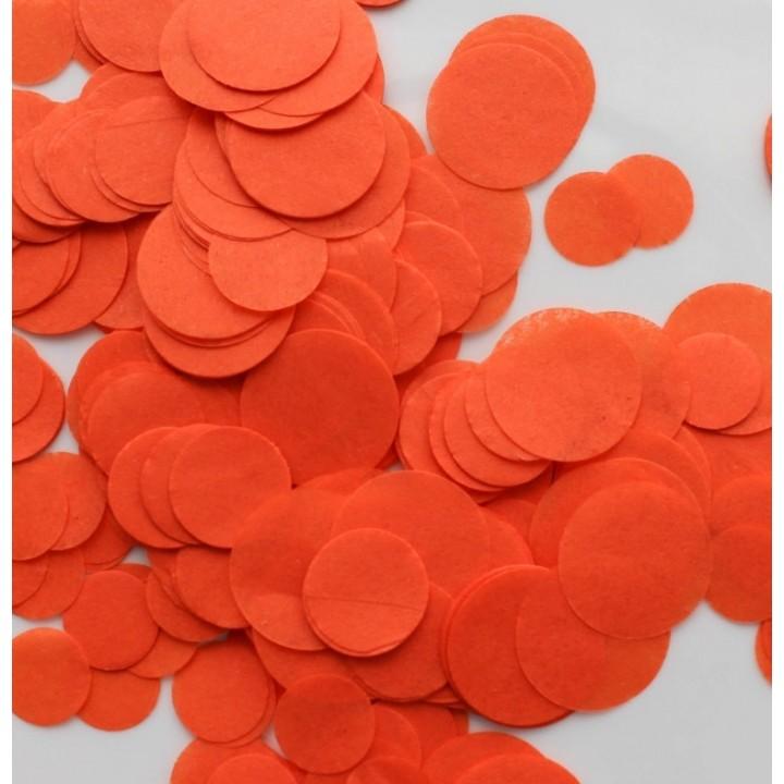 Confettis ronds orange en papier