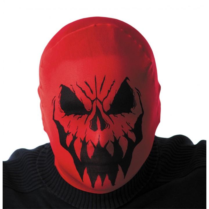 Cagoule monstre rouge Hallloween