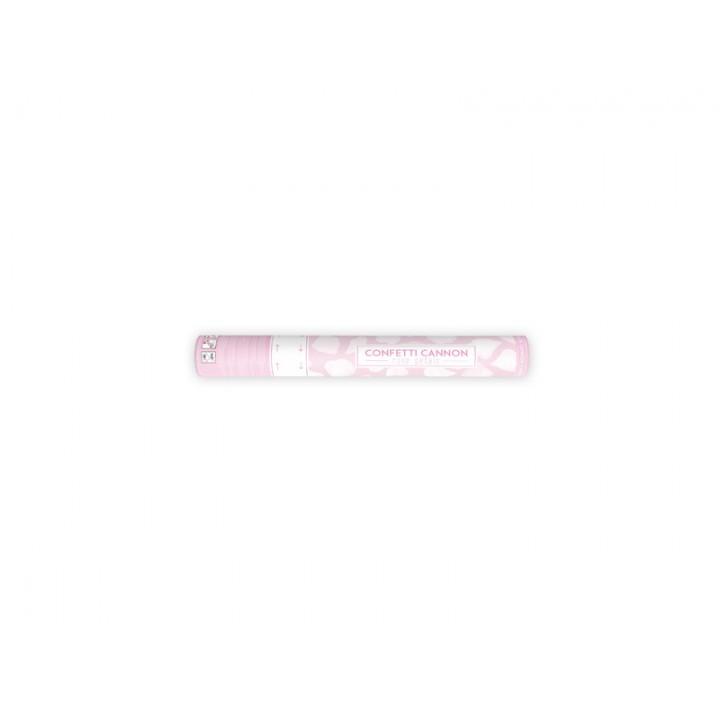 Canon à confettis avec pétales blancs 40 cm