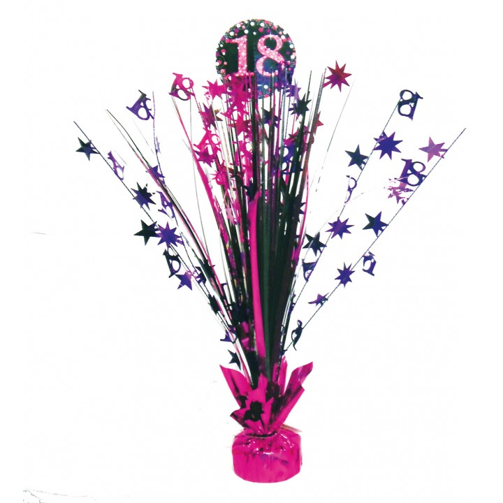 Centre de table Sparkling Celebration rose 18 ans 45,7 cm