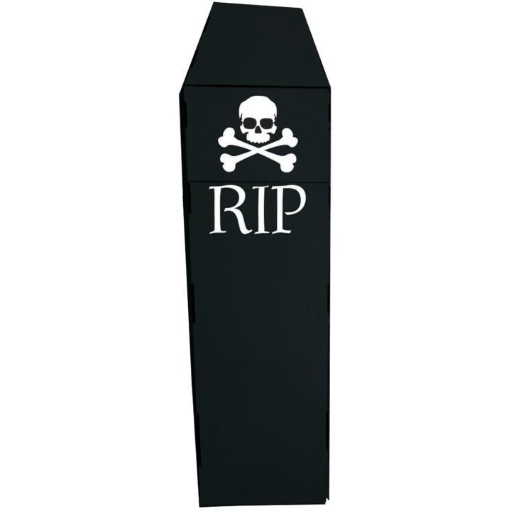 Cercueil Rip Halloween en carton 1,37m x 15 cm