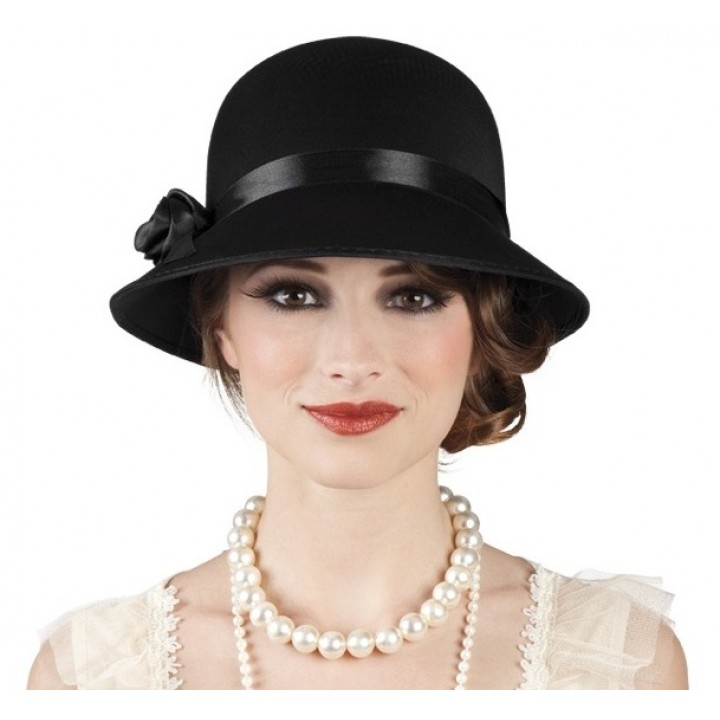 Chapeau Charleston lady noir