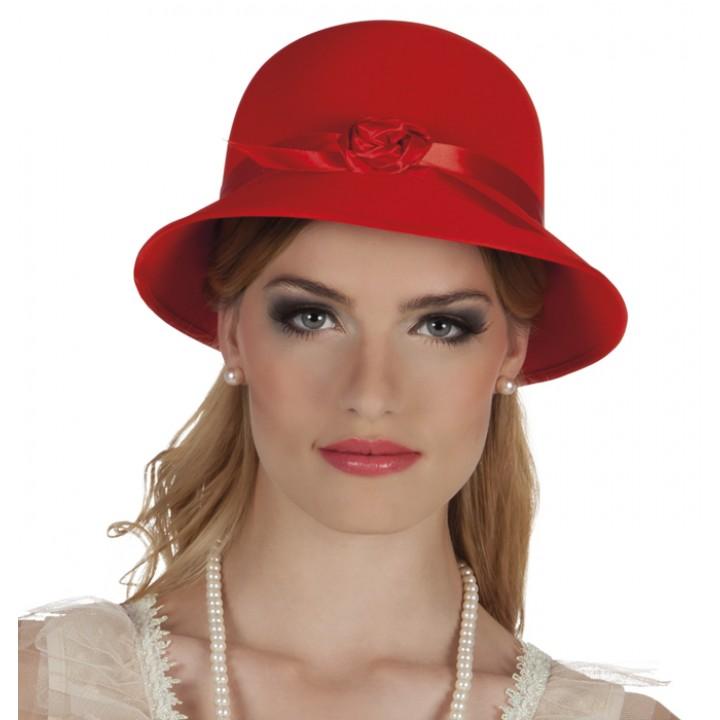 Chapeau Charleston lady rouge