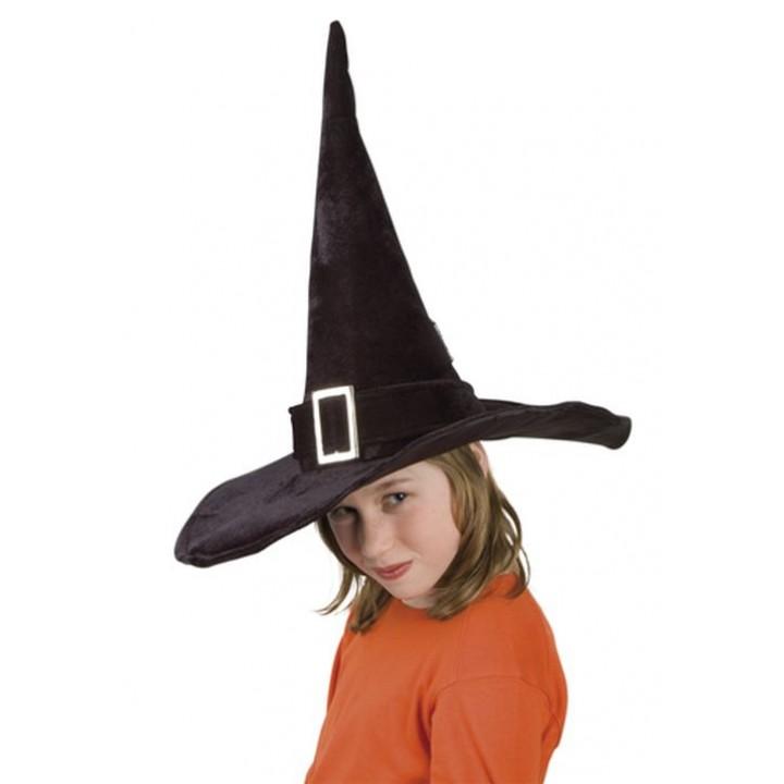 nouveaux styles couleurs harmonieuses baskets pour pas cher Chapeau de sorcière hallowen enfant velours noir