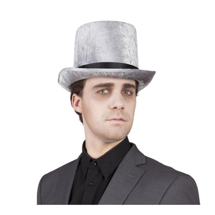 Chapeau haut de forme Logan gris