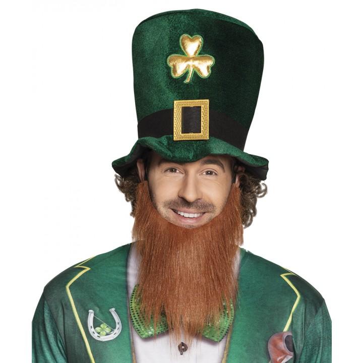 Chapeau Leprechaun avec barbe St Patrick