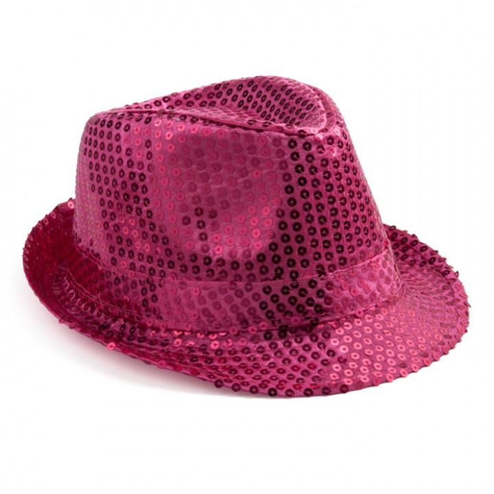 Chapeau sequin rose