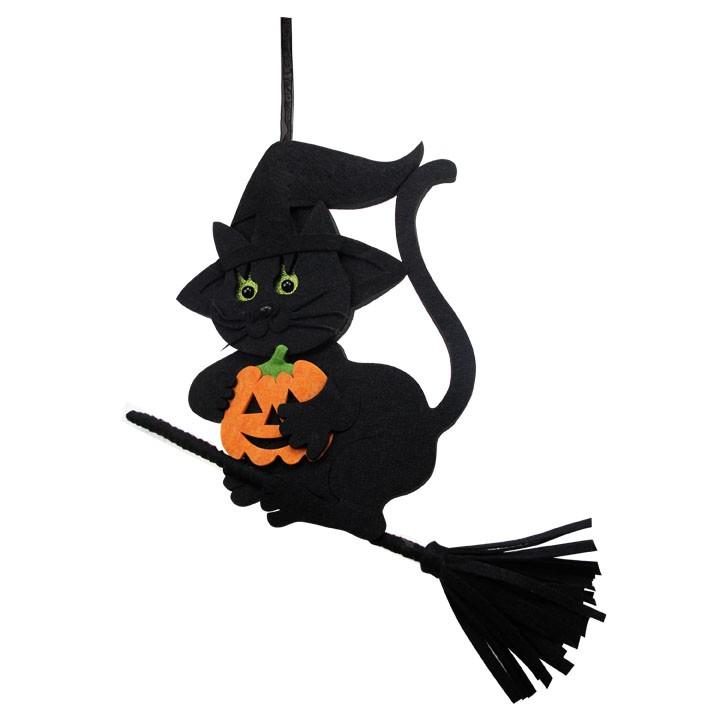 Chat à suspendre Halloween 47 x 3,5 x 49 cm