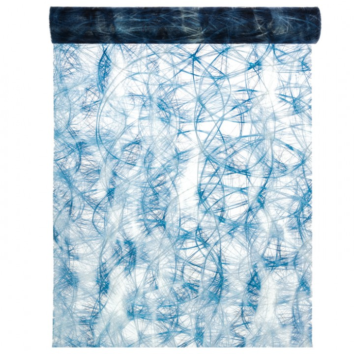 Chemin de table Camaieu bleu 30 cm x 2 m