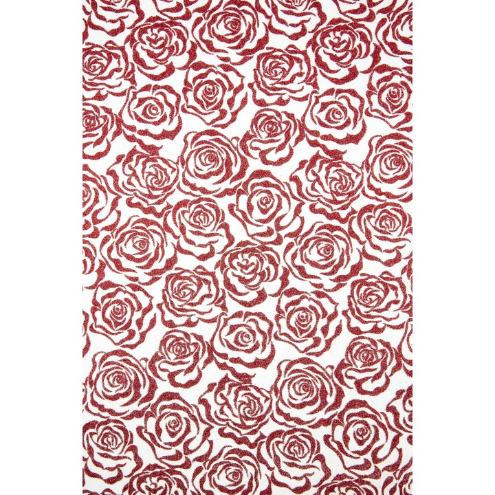 Chemin de table Noël Andromède rouge 28 cm x 5 m