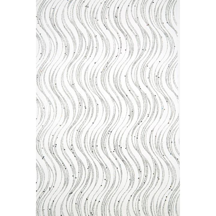 Chemin de table Noël Antares argent 28 cm x 5 m