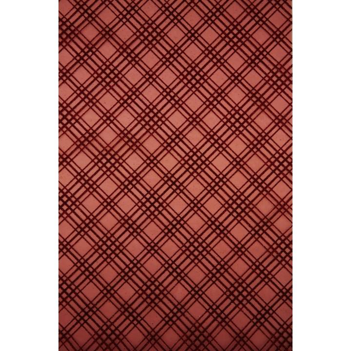 Chemin de table Noël Orion rouge 28 cm x 5 m