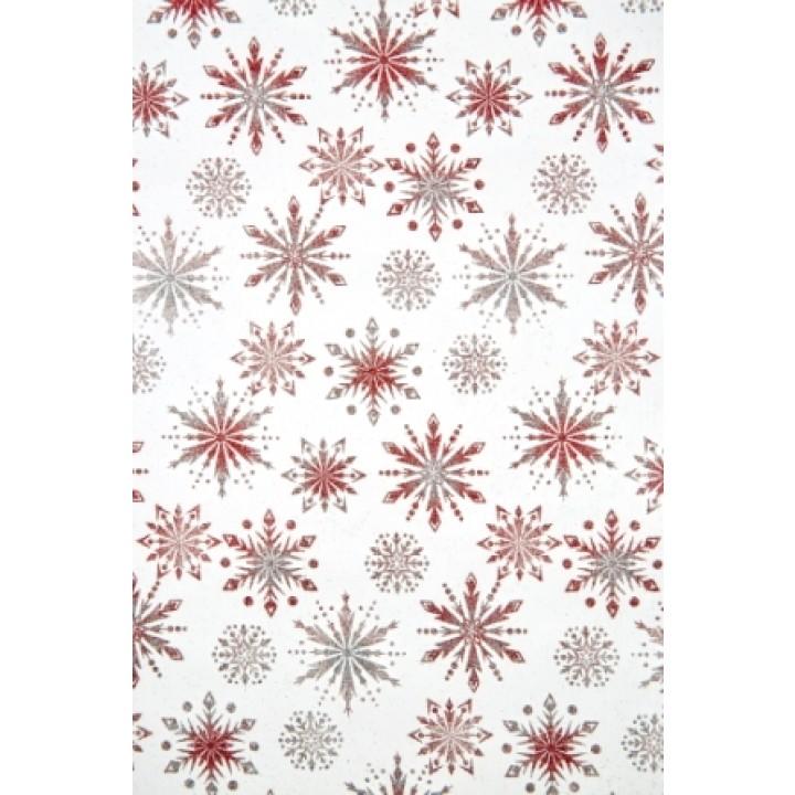 Chemin de table Noël Phénix rouge 28 cm x 5 m