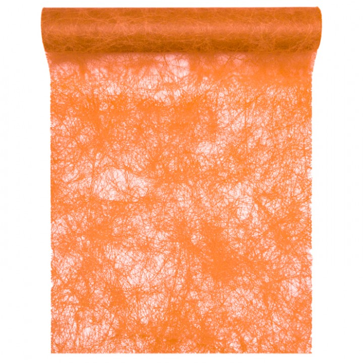 Chemin de table orange 30 cm x 10 m