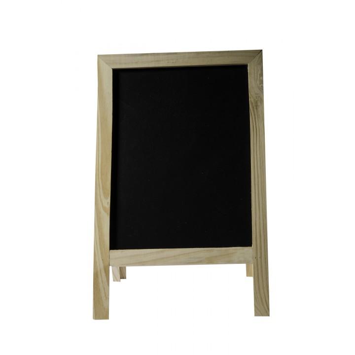 Chevalet de table ardoise et bois 32x20 cm
