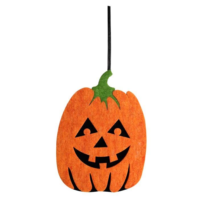 Citrouille visage à suspendre Halloween 30 x 0,8 x 22 cm