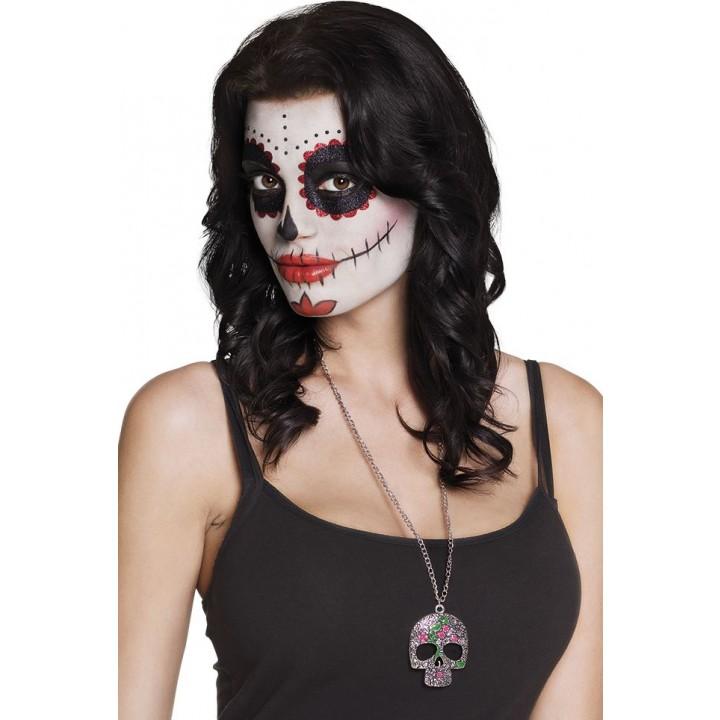 Forma Cabeza Metal Death Halloween De Collar Catrina VpMUSzq
