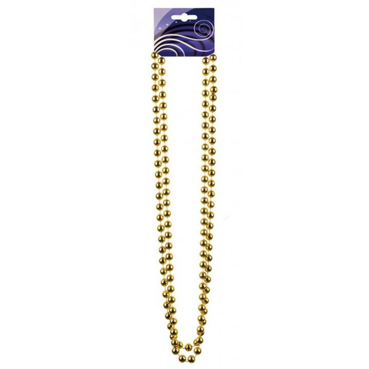 Collier de perles or