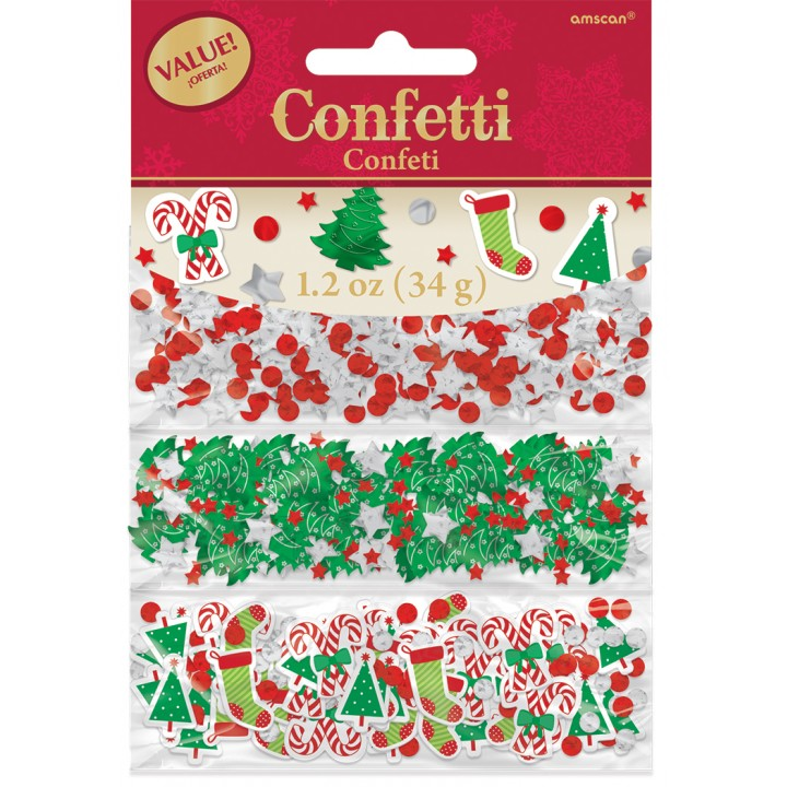 Confettis de table assortiment Noël 34 gr