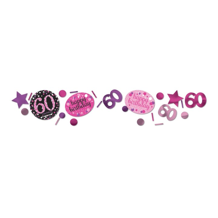 Confettis Sparkling Celebration rose 60 ans 34 gr