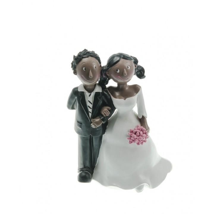 Couple de mariés noirs