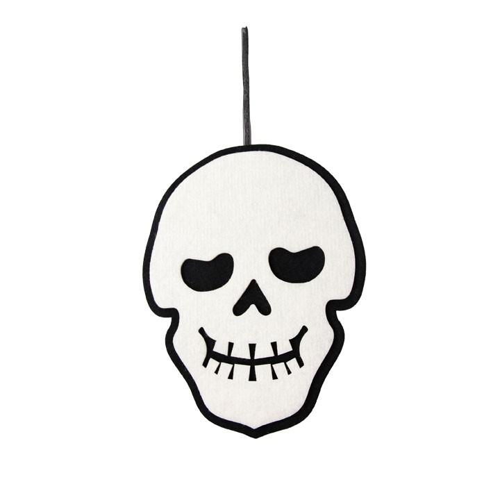 Crâne à suspendre Halloween 24 x 0,8 x 31 cm