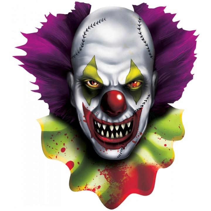 Cut out Clown effrayant Halloween 38 cm