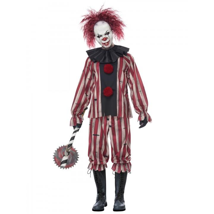 d guisement scary clown homme avec masque halloween. Black Bedroom Furniture Sets. Home Design Ideas