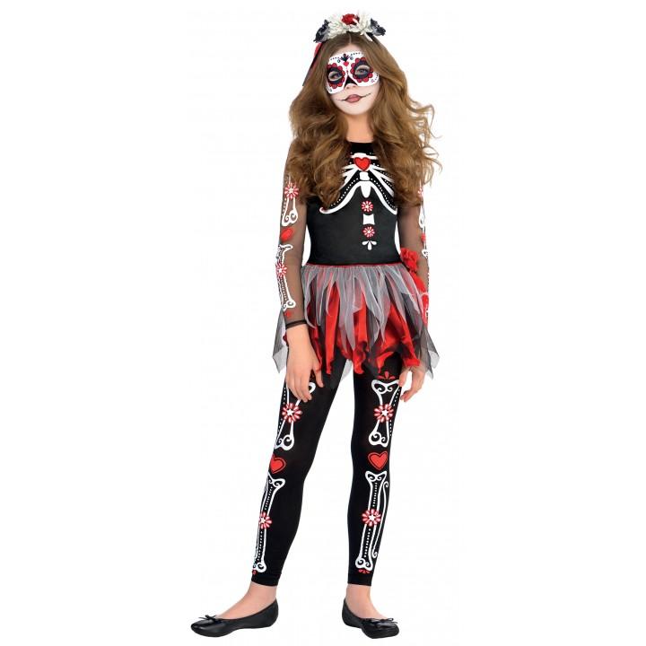 1050d3ea51a8 Déguisement Squelette Jour des morts Halloween 10 12 ans