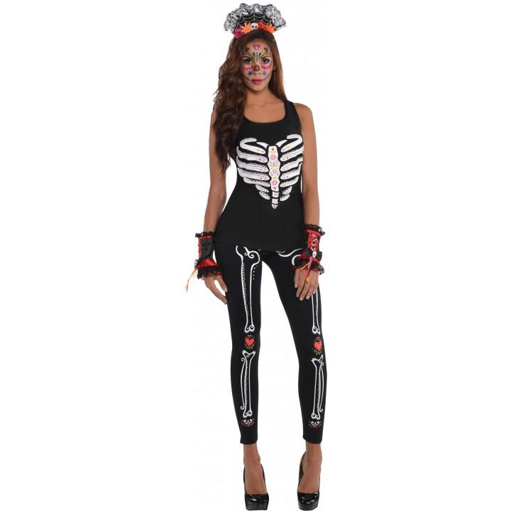 986a2383cf4d Débardeur Jour des Morts Halloween femme
