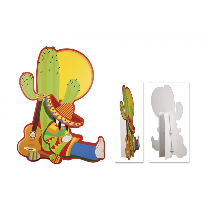 Décor mexicain sur cactus 155 x 116 cm