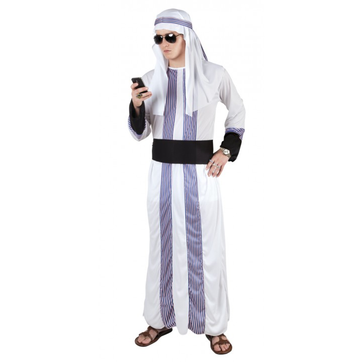 Déguisement cheik arabe adulte