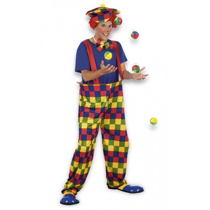 Déguisement Clown multicolore adulte